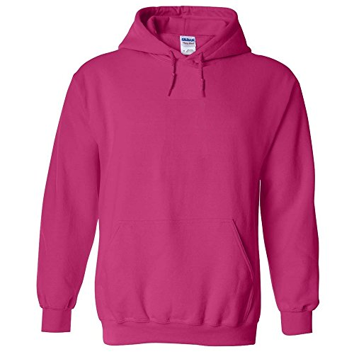 Hot Adult Sweatshirt - NEW GILDAN 18500 HOODIE HOODED SWEATSHIRT Heavy Blend Adult HOODIE SWEATSHIRT Hot Pink S