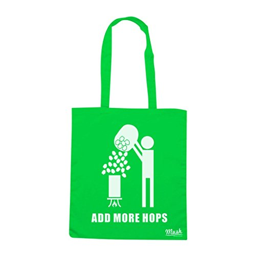 Borsa Add More Hops Homebrewer - Verde prato - Famosi by Mush Dress Your Style