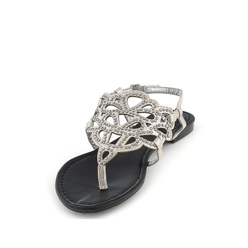 Breckelles Womens Sunny-02 Sandalo Argento