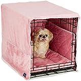 Pet Dreams- Plush Crate Pad, Crate Cover and Bumper Set- Pink- Large