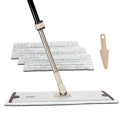 BOOMJOY Microfiber Flat Mop, 20