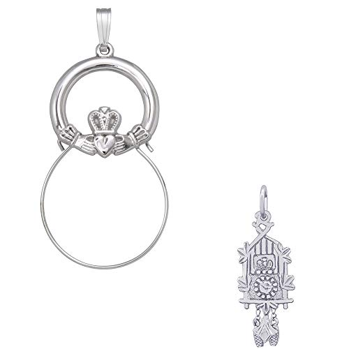 - Rembrandt Charms Cuckoo Clock Charm on a Rembrandt Charms Claddagh Charm Holder