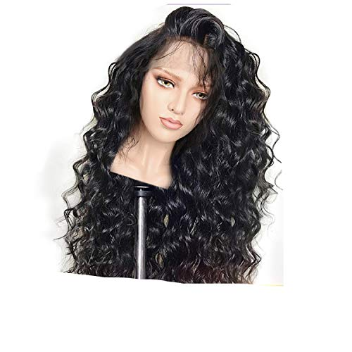 Curly Lace Front Human Hair Wigs For Women Lace Wig Frontal Plucked Full End Can Make,#1,22inches -