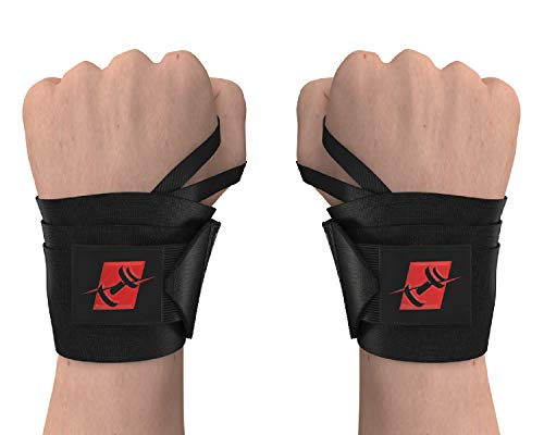ProFitness 18 Weight Lifting Wrist Wraps W/Thumb Loop Hole for Men & Women | Great for Weightlifting, Powerlifting, Crossfit & Strength Training | Premium Wrist Stability & Injury Prevention