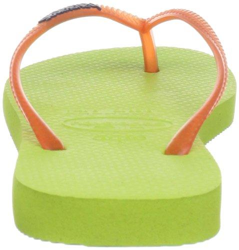Havaianas Slim Logo - Sandalias de goma mujer Verde (Lime Green 4185)