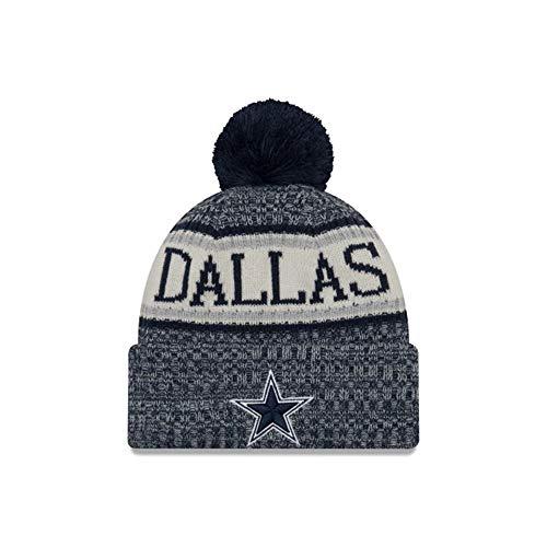 New Era Knit Hat NFL Cap Sport Knit Cap Winter Warm (Dallas Cowboys) (Dallas New Era Beanie)