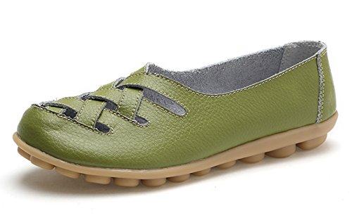 VenusCelia Women's Comfort Walking Casual Flat Loafer(7 M US,pistac)