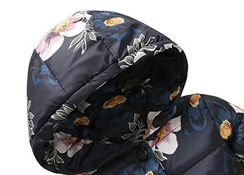 Bebe 4 Botón Negro Invierno Grueso Abrigos Chaqueta Años Caliente Ropa 1 Con Niña Flor Y Capucha Bolsillo Parkas 5naAXFT