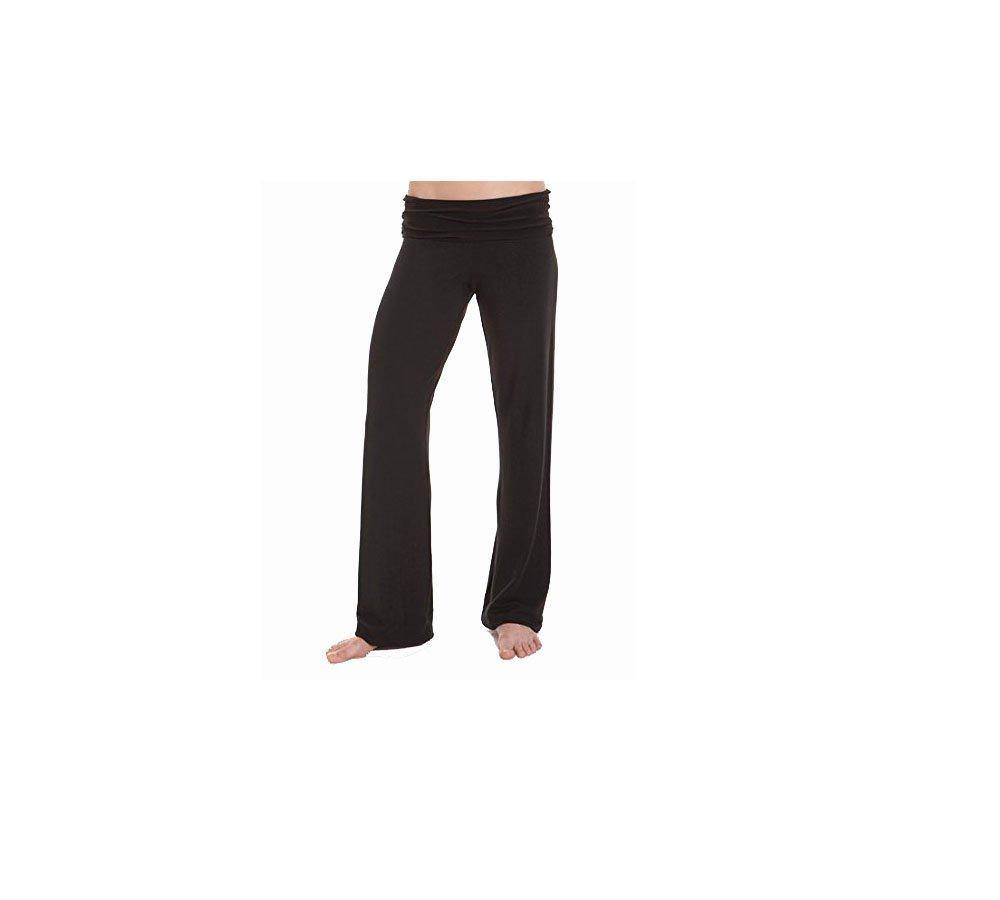 Revolution Black Convertible Waist Dance Yoga Pant #201 Medium Adult by Revolution Dancewear