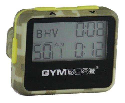 Temporizador de Intervalo y Cronómetro Gymboss - Revestimiento Suave Camuflaje / Amarillo: Amazon.es: Deportes y aire libre