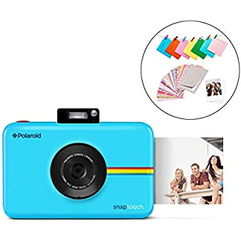 2ff2e6e1d383 Polaroid SNAP Touch 2.0 - 13MP Portable Instant Print Digital Photo Camera  w/Built-in Touchscreen Display, Blue