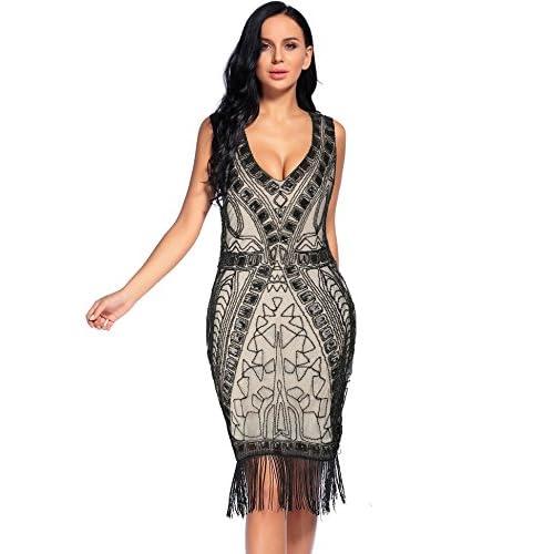cheap Flapper Girl 1920s Flapper Dresses Art Deco Sequin Tassel ...
