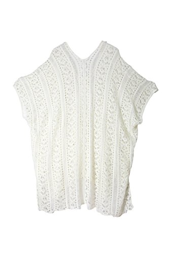 Knit Knitted Knitting Kaftan e Cotone abiti Yiyada Beachwear Mini Pareos Crochet Copricostumi spiaggia parei Bianca Sarongs Knitted Kimono Donne xqXtwfY