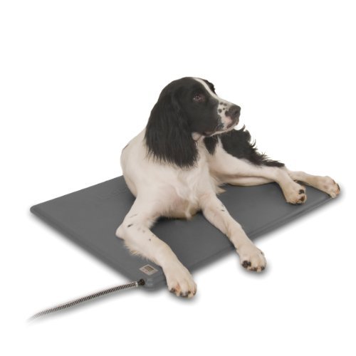 K&H Pet Products Deluxe Lectro-Kennel Heated Pad Medium Gray 16.5