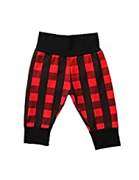 Newborn Baby Boys Girls Buffalo Plaid Harem Pants Long Pants
