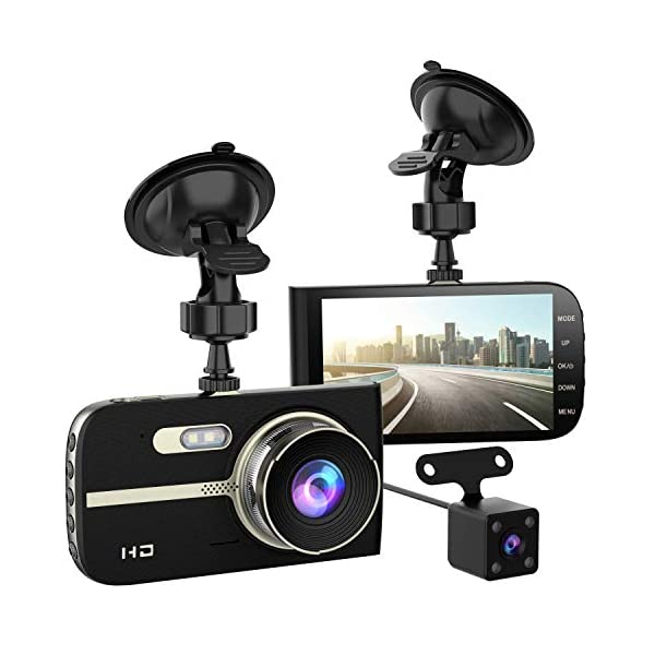 Full HD 1080P Dash Cam Front and Rear 290 Degree Super Wide Angle Car Camera Recorder...