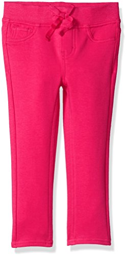 Pink Hot Pants (Lee Big Girls' Knit Waist Skinny Pull On Pant, Hot Pink, 8)