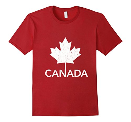 Mens Flag of Canada Vintage T-Shirt Canada Day Tee Shirt Medium - Men Canada
