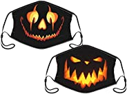 Sordiw Halloween And Pumpkin Mask For Adults Face Balaclava Reusable Set Of 2