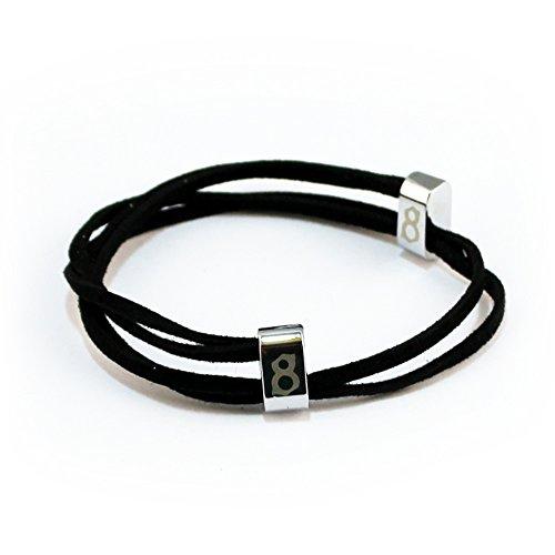 st8te- Men's & Women's Adjustable Soft Suede Leather Bracelets (Jet Silver)