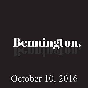 Bennington, October 10, 2016 Radio/TV Program