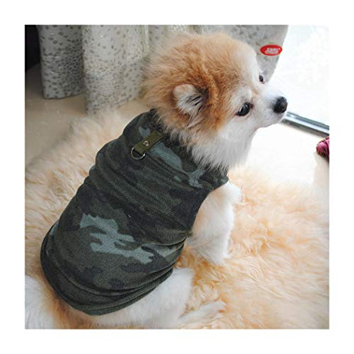 Petea Pet Dog Clothes Camouflage Dog Vest Winter Villi Coat Warm Pet Puppy Apparel for Dogs and Cats