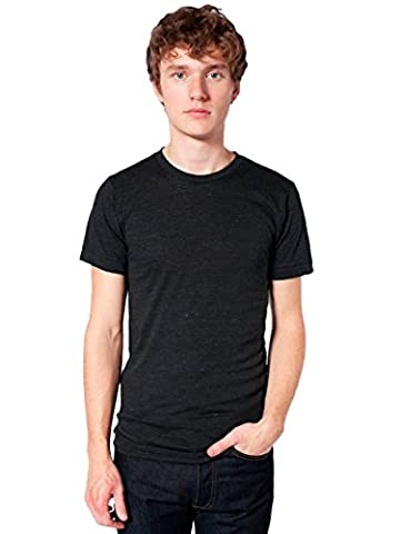 American Apparel Unisex Tri-Blend Short Sleeve Track Shirt, Tri-Black, Large - Apparel