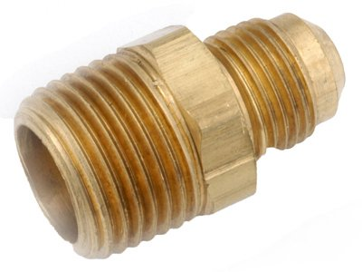 anderson metals corp 714048-0612 3/8 -Inch Flare x 3/4 -Inch Male Iron Pipe Thread, Brass Connector - Male Iron Pipe Thread