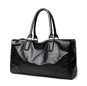 Leather Duffle Bag For Men,Black - Fashion Duffle Bags