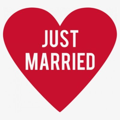 Sudadera con capucha de mujer Just Married Logo by Shirtcity Blanco