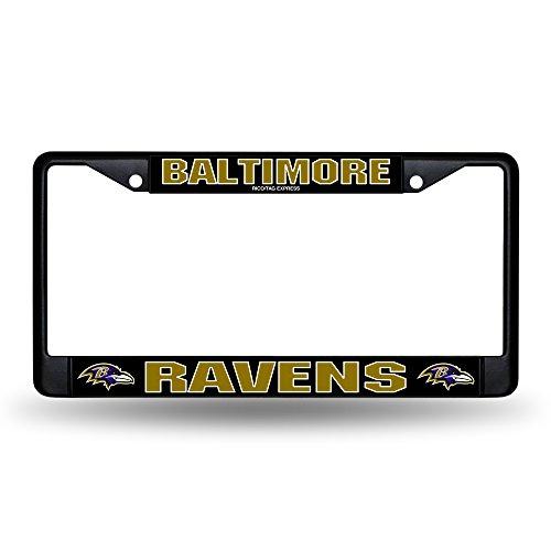 Rico Industries Baltimore Ravens NFL Black License Plate Frame