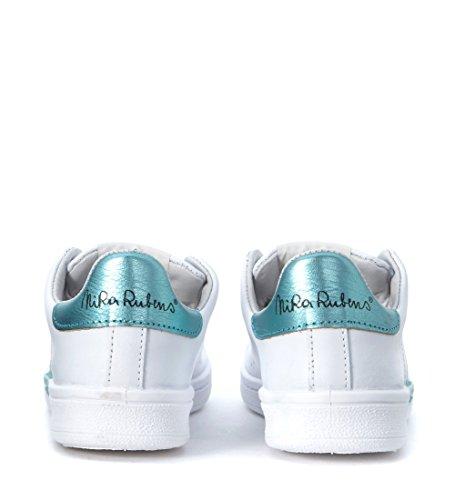Azzurro Pelle Bianco E Bianca Rubens Nira In Sneaker Acquamarina Daiquiri Cuore Iwx8vqf1