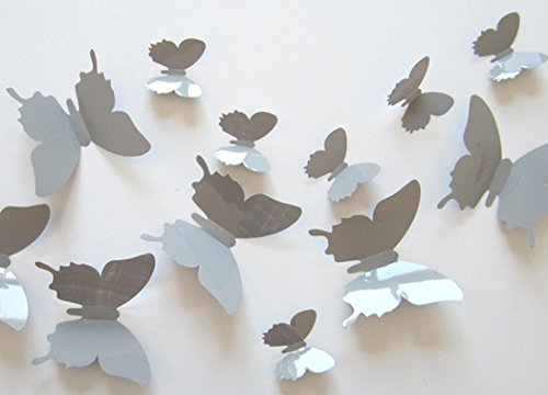 12Pcs Art Decal Home Decor Room Wall Stickers 3D Butterfly Stickers Decorations - 2