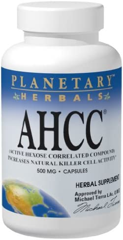 Source Naturals AHCC 500mg Active Hexose Correlated Compound – Maximum Absorption Shiitake Mushroom Defense Increase Natural Killer Cell Activity – Powerful Antioidant for Immune Health – 60 Capsules