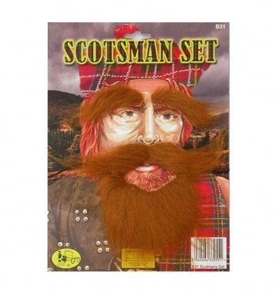 Ginger Scotsman Beard, Tash & Eyebrows Set