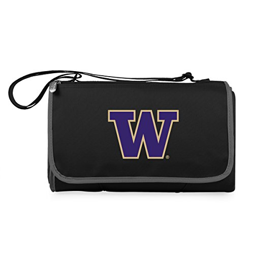 PICNIC TIME NCAA Washington Huskies Outdoor Picnic Blanket Tote, (Washington Huskies Fleece Throw)