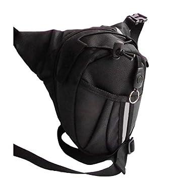 zooarts gota pierna bolsa paquete Caballero cintura mochila para bicicleta motocicleta al aire libre: Amazon.es: Deportes y aire libre
