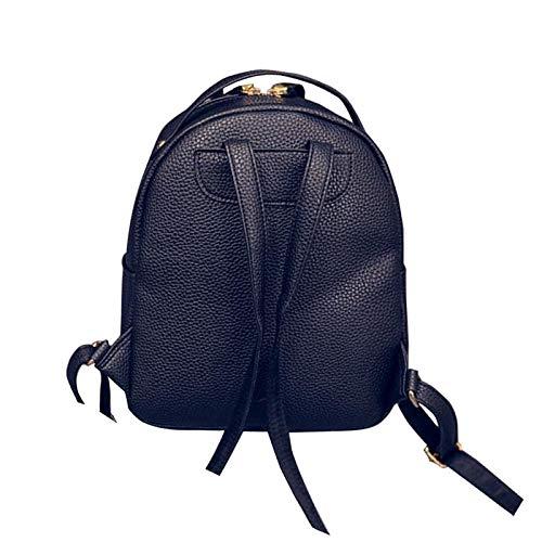VHVCX Pu Frauen Rucksack Female Fashion Rucksack Marken-Entwerfer-Damen Back Back Back Bag Schultasche für Mädchen B07G6QMFVK Rucksackhandtaschen Stabile Qualität 899aeb