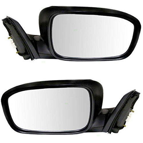 Koolzap For 03-07 Accord 2-Door Coupe Power Heat Black Fold Mirror Left Right Side SET PAIR ()