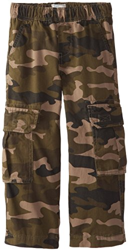 The Children's Place Little Boys' Pull-On Cargo Pant, Olive Camo, 7 -