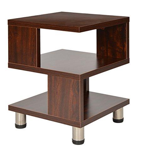 ts-ideen Mesa auxiliar unidad de almacenamiento madera en Marron nogal mesita de telefono mesa de noche pasillo oficina dormitorio