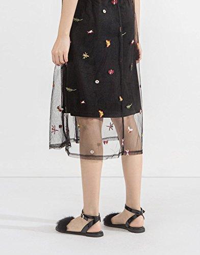 piatti tacco a Sandali basso Nero alti casual con Tacchi Pantofole 38 DHG da Sandali moda basso tacco alla donna Sandali estivi 1Uq78aFvU6
