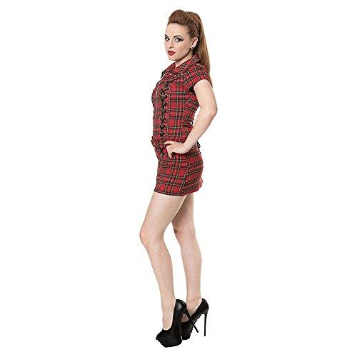 Banned Tartan Mini Dress (Red)