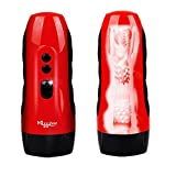 UltraZhyyne(TM) NEW USB Charged 10 Speed Vi br at-ion Girls Realistic Va gi-na Artificial Pussy Male Electric Ma s-tu rbator Adult S -ex Toys for Men [ Red ]