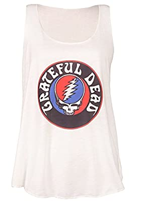 Sidecca Women's Classic Rock Logo Racerback Graphic Tank Top Juniors and Plus Size