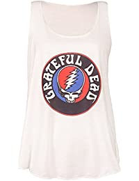 Women's Grateful Dead Steal Your Face Skull Logo Racerback Graphic Tank Top