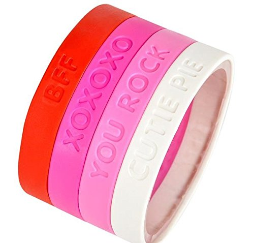 Valentines Adults Favors Rubber Bracelets
