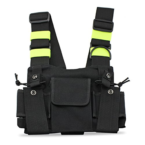 two way radio chest harness - 3