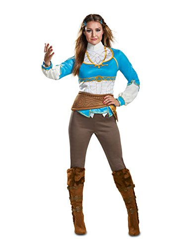 Disguise Women's Zelda Breath of The Wild Adult Costume, Blue L (12-14)