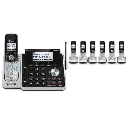 - AT&T TL88102 + (6) TL88002 7 Handset Cordless Phone (2 Line) DECT 6.0